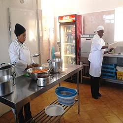 Preparing food for patients