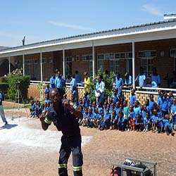 Fire fighting training for hospice staff and Pre-School children
